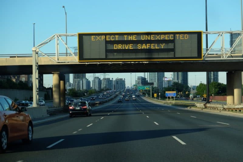 Drive test in Ontario – expect the unexpected