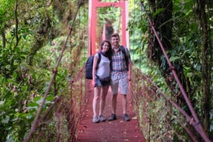 Famous bridge in Monte Verde